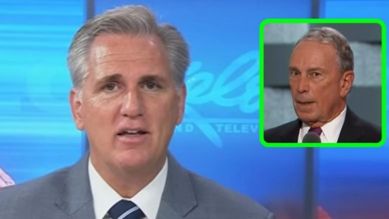 McCarthy divulges the Bloomberg money drop to buy the House. Photo credit to Swamp Drain compilation with screen shots.