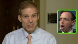 Jim Jordan is astounded by Rosenstein's neglect of duty to Congress. Photo credit to Swamp Drain compilation with screen shots.