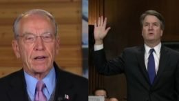 Grassley announces results of congressional investigation on Kavanaugh accusers. Photo credit to US4Trump with screen shots.
