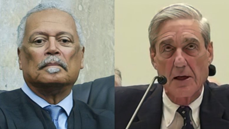 Federal Judge Emmet Sullivan orders Mueller to hand over key documents on the Michael Flynn file. Photo credit to Swamp Drain compilation with Immigration Courtside, Screen Shot.