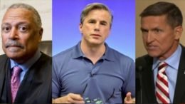 Tom Fitton reacts to Court room hearing for General Michael Flynn. Photo credit to Swamp Drain compilation with Photo by Diego M. Radzinschi/NATIONAL LAW JOURNAL, Reddit, Screen Shot.