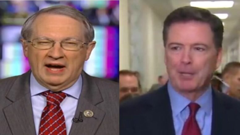 Chairman Goodlatte gives a grave take-a-way from Comey's closed-door testimony. Photo credit to Swamp Drain compilation with screen shots.
