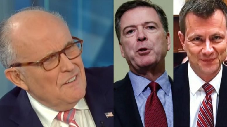 Giuliani tells America what the FBI 302's mean. Photo credit to Swamp Drain compilation with Fox, Reuters, Screen Shot.