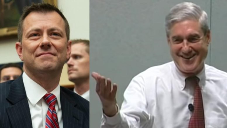 Mueller Probe team caught deleting texts from Strzok-Page cell phones. Photo credit to Swamp Drain compilation with Breitbart, Screen Shot.