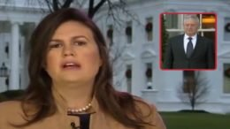 Sarah Sanders speaks on White House lawn about the resignation letter from General Mattis. Photo credit to Swamp Drain compilation with screen shots.