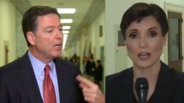 Catherine Herridge stops Comey after his second Congressional testimony. Photo credit to Swamp Drain compilation with screen shots.