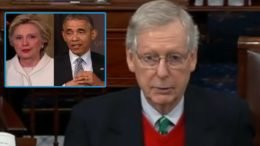 McConnell calls out Schumer, Obama and Clinton when they voted for physical barriers at the border in 2006. Photo credit to Swamp Drain compilation with screen grab.