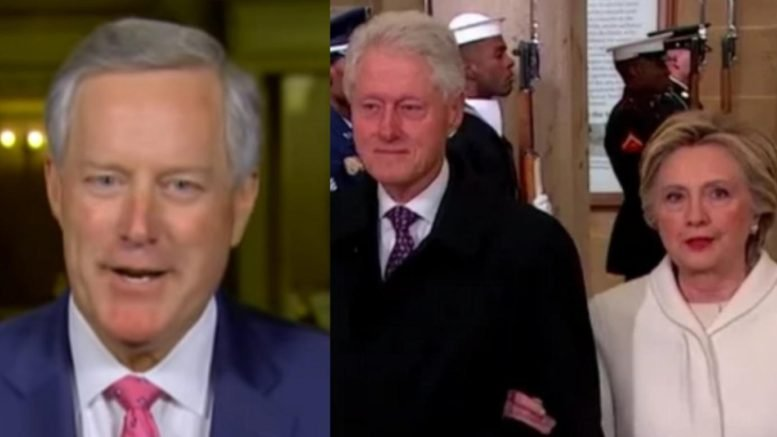 Mark Meadows talked about the upcoming Clinton Foundation testimonies by the whistleblowers. Photo credit to Swamp Drain compilation with screen shots.