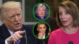 President Trump quotes Hillary and Obama on their previous support of a Wall. Photo credit to Swamp Drain compilation with Screen Shots, Progreso Semanal.