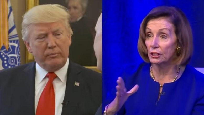 Nancy Pelosi lawyers up to go after President Trump with impeachment proceedings. Photo credit to Swamp Drain compilation with screen shots.