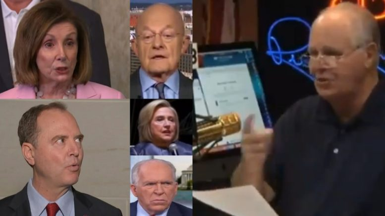 Pelosi, Clapper, Schiff, Hillary, Brennan, Rush Limbaugh