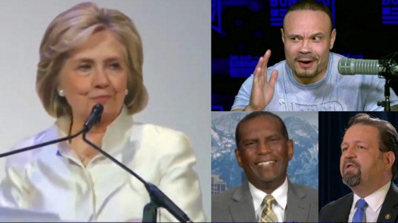 Hillary, Bongino, Burgess Owens, Gorka