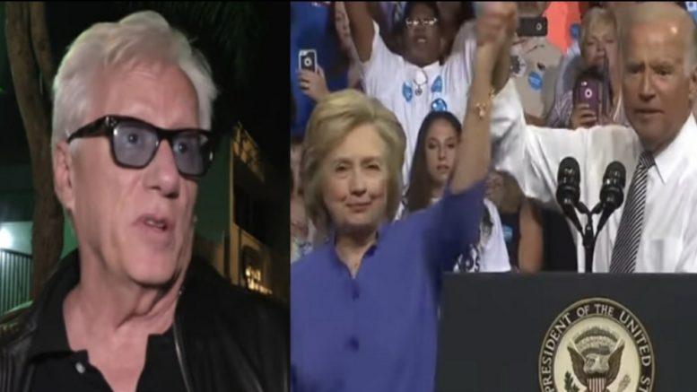 James Woods, Clinton, Biden