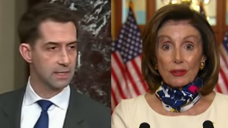 Tom Cotton, Pelosi
