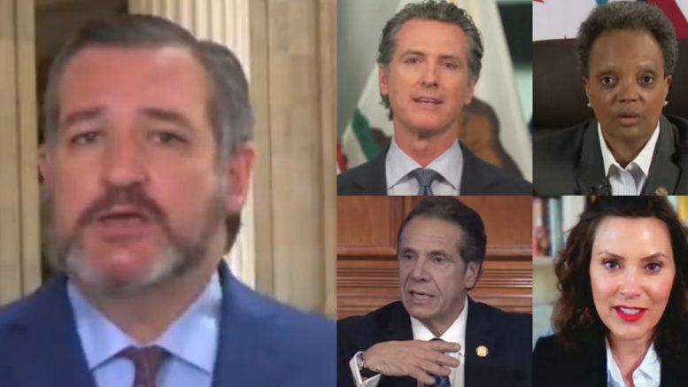 Cruz, Newsom, Lightfoot, cuomo, whitmer