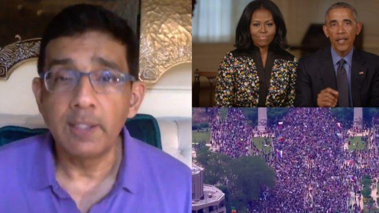 Dinesh, Obamas, Protestors